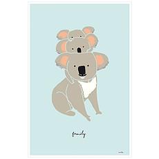 Achat Affiche & poster Affiche Koala Family