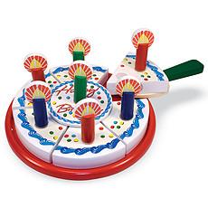 Achat Mes premiers jouets Gâteau d'Anniversaire en Bois