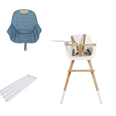 Achat Chaise haute Chaise Haute Ovo Luxe One Assise Jeans et Extension - Blanc