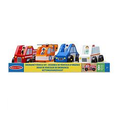Achat Mes premiers jouets Ensemble de Véhicules d'Urgence en Bois