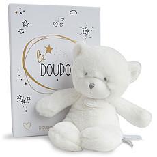 Achat Peluche Le Doudou - Pantin Ours Blanc (26 cm)