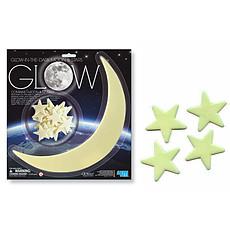 Achat Sticker Stickers Étoiles et Lune Phosphorescentes