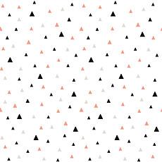 Achat Papier peint Origami Play - Papier Peint - Petits Triangles Noir & Corail