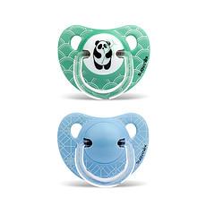 Achat Sucette Lot de 2 Sucettes Physio Silicone Panda & Fleurs 6/18 Mois - Vert / Bleu