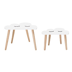 Achat Table & Chaise Lot de 2 Tables - Blanches