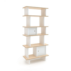 Achat Étagère Mini Librairie Verticale - Blanc / Bouleau