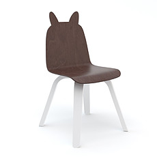 Achat Table & Chaise Lot de 2 Chaises Play Lapin - Blanc / Noyer