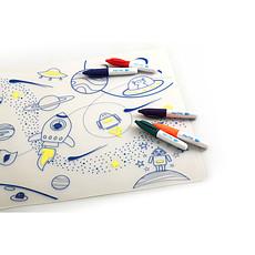 Achat Vaisselle & Couvert Set de Table à Colorier et ses 5 feutres - Dans l'espace