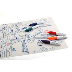 Achat Vaisselle & Couvert Set de Table à Colorier et ses 5 feutres - Arbre Magique