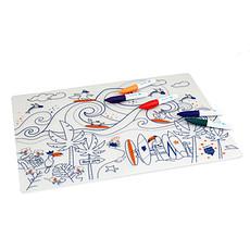 Achat Vaisselle & Couvert Set de Table à Colorier et ses 5 feutres - Surf Party