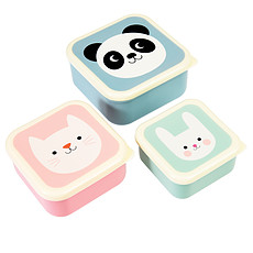Achat Vaisselle & Couvert Lot de 3 Boites - Panda Chat Lapin