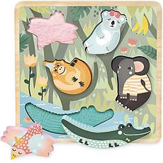 Achat Mes premiers jouets Encastrement Tactile Jungle par Michelle Carlslund
