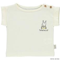 Achat Vêtement layette T-shirt Bourrache Lapin - Lait
