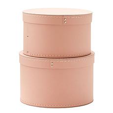 Achat Panier & corbeille Lot de 2 Boîtes de Rangement Rondes - Rose