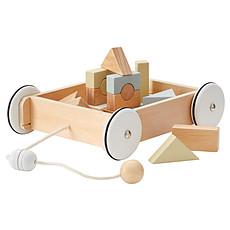 Achat Mes premiers jouets Chariot en Bois avec Blocs