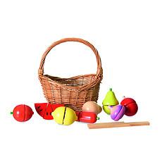 Achat Mes premiers jouets Set de Fruits et Légumes en Bois dans son Panier