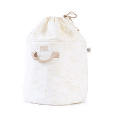 Achat Rangement jouet Sac à Jouets Bamboo - Gold Bubble & White