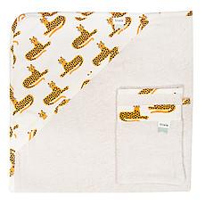 Achat Linge & Sortie de bain Cape de Bain + Gant de Toilette - Cheetah