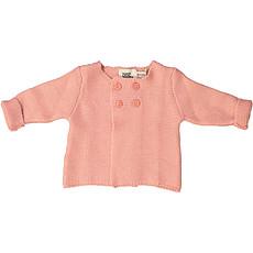 Achat Haut bébé Cardigan Julia - Rose - 3/6 Mois