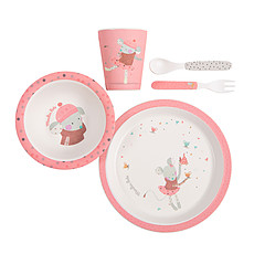 """Achat Coffret repas Set Vaisselle Rose """"Les Jolis Trop Beaux"""""""