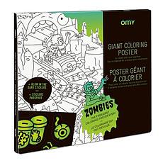 Achat Mes premiers jouets Poster à Colorier & Stickers - Zombies