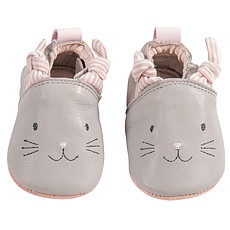 Achat Chaussons & Chaussures Chaussons Cuir Gris Les Petits Dodos - 18/19