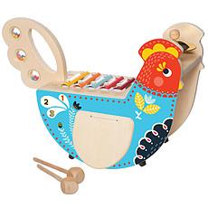 Achat Mes premiers jouets Poule Musicale en Bois
