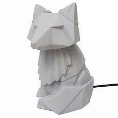 Achat Lampe à poser Lampe Renard Gris - 15 x 25 cm