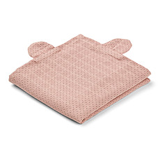 "Achat Lange Lot de 2 Langes Hannah ""Mr Bear"" - Little Dot / Rose - 70 x 70 cm"