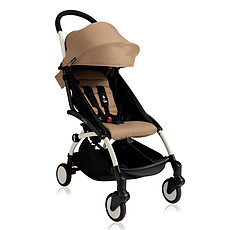 Achat Poussette canne Poussette Compacte YOYO+ 6+ Chassis Blanc - Taupe