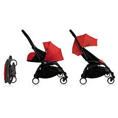 Achat Poussette combinée Poussette DuoYOYO+ Châssis Noir et Packs couleur 0+ et 6+- Rouge