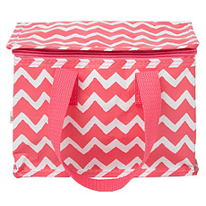 Achat Sac isotherme Lunch Bag Chevrons Rose
