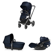 Achat Poussette combinée Poussette Trio Priam Trekking Chrome Priam et Cloud Q - Blue