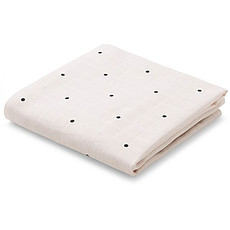 Achat Lange Lot de 2 Langes Hannah Classic Dot - Sweet Rose - 70 x 70 cm