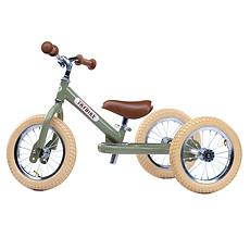 Achat Trotteur & Porteur Trybike 2 en 1- Châssis Vert et Roues Beiges