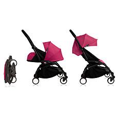 Achat Poussette combinée Poussette DuoYOYO+ Châssis Noir et Packs couleur 0+ et 6+- Rose