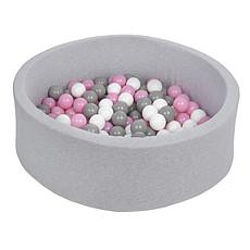 Achat Mes premiers jouets Piscine à Balles Ronde Grise 115 cm + Balles RAP