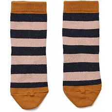 Achat Accessoires Bébé Chaussettes Silas - Stripes Rose & Navy