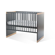 Achat Lit bébé Lit Bébé 60 x 120 cm avec Sommier et Latte 90 x 200 cm - Paris Dark - Anthracite