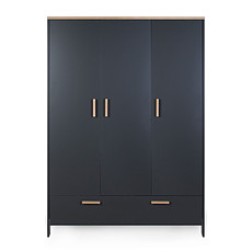 Achat Armoire Armoire 3 Portes Paris - Dark Oak Anthracite