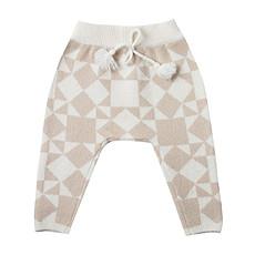 Achat Bas bébé Pantalon Patchwork Jacquard - Ivoire