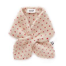Achat Accessoires bébé Écharpe à Pois Rouges - Beige