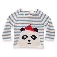 Achat Haut bébé Pull Panda à Rayures
