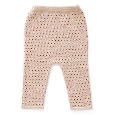 Achat Bas Bébé Pantalon à Pois Rouges Beige - 12 Mois