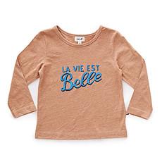 Achat Hauts bébé Tee-shirt La Vie Est Belle Marron - 3 Ans