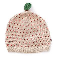 Achat Accessoires Bébé Bonnet Pomme à Pois Rouges Beige - 6/12 Mois