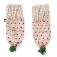 Achat Accessoires bébé Moufles Pomme à Pois Rouges - Beige