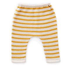 Achat Bas Bébé Pantalon à Rayures Blanc et Mimosa - 6 Mois