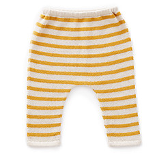 Achat Bas Bébé Pantalon à Rayures Blanc et Mimosa - 18 Mois