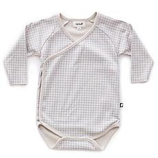 Achat Body et Pyjama Body Croisé à Carreaux Gris et Bleu - 12 Mois